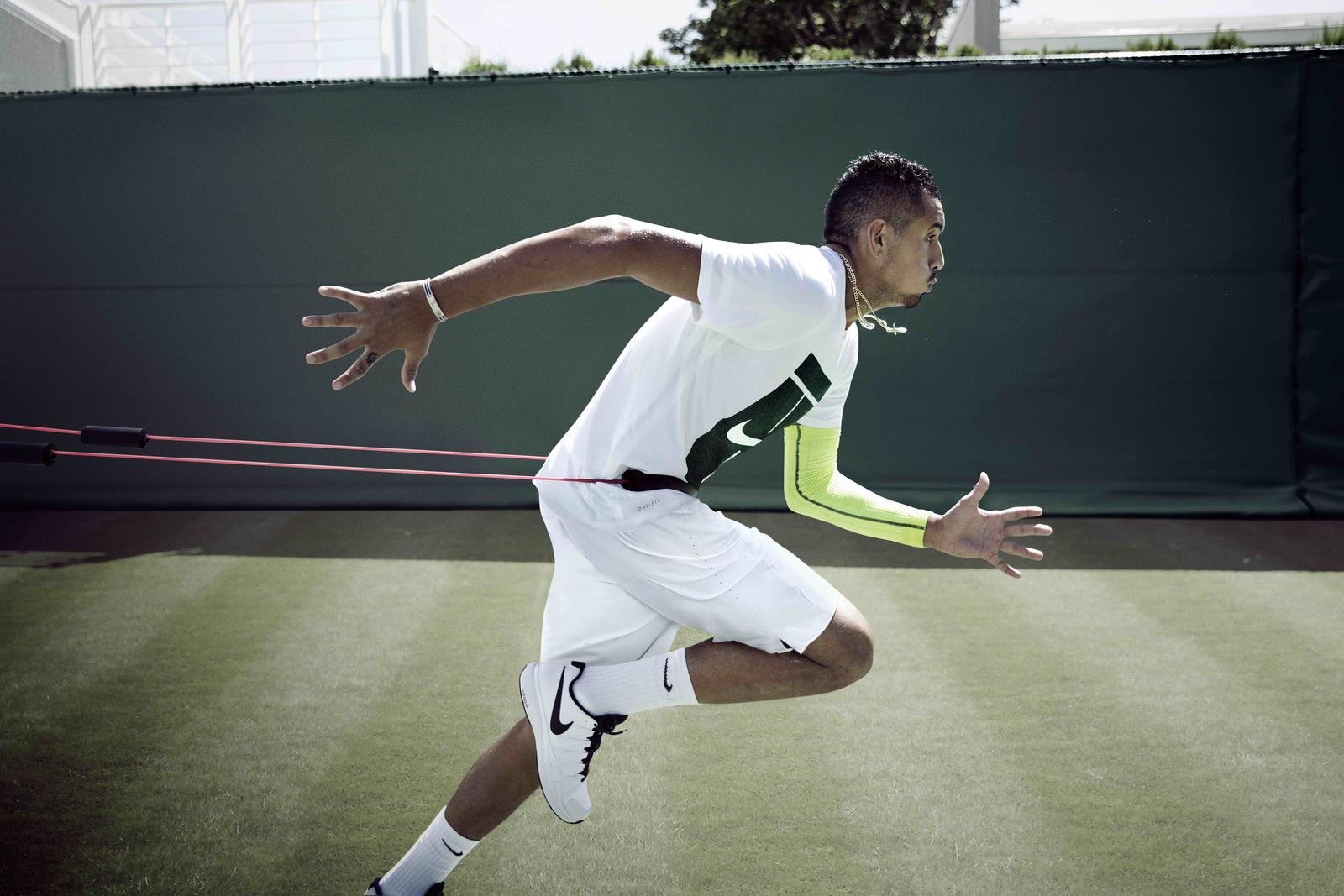 Nike tennis Training Wimbledon 2016 Kyrgios